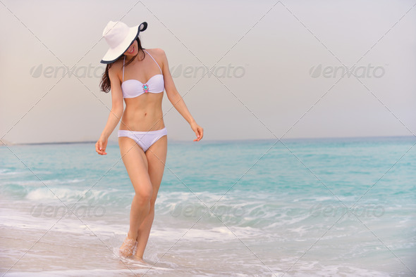 happy woman enjoy summer vacation - Stock Photo - Images