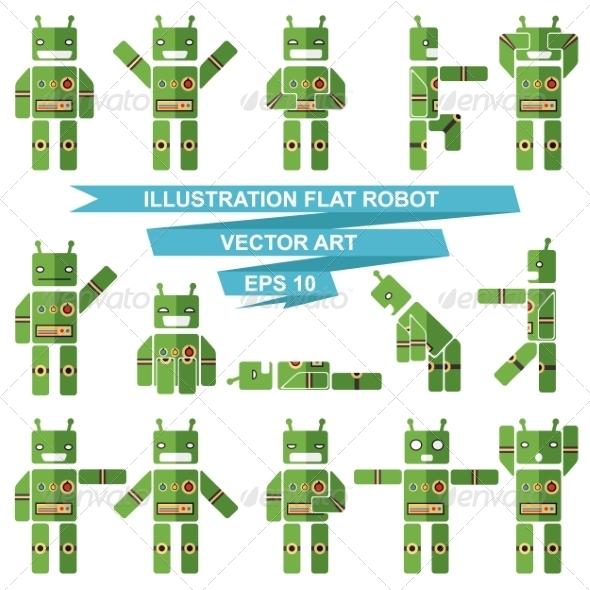 Flat Robots