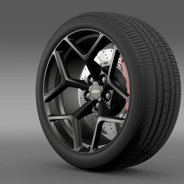Chevrolet Camaro Z28 2014 wheel - 3DOcean Item for Sale