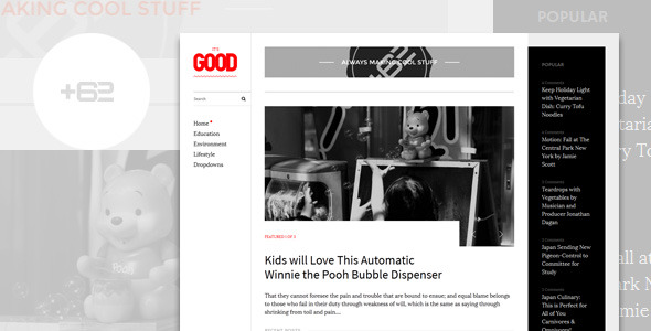 Good - Magazine WordPress Theme