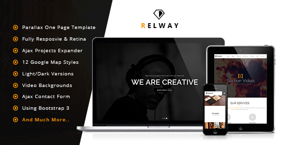 Relway - Responsive Parallax One Page Template - Creative Site Templates