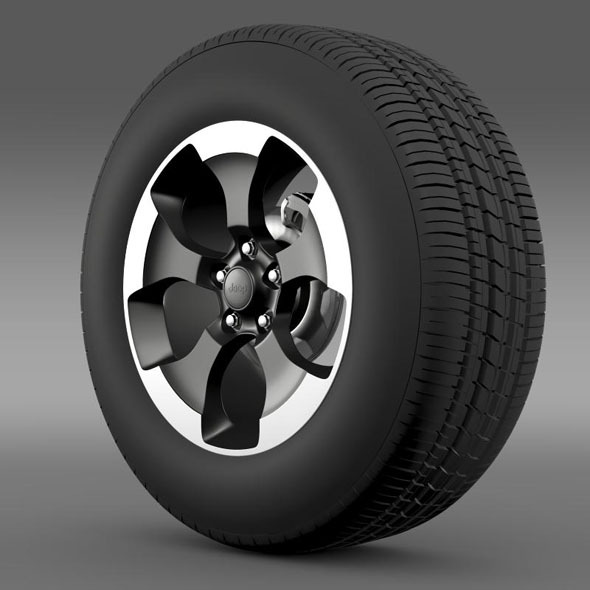 Jeep Wrangler Polar 2014 wheel - 3DOcean Item for Sale