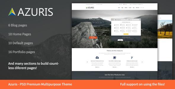 Azuris - Multipurpose PSD Temaplate