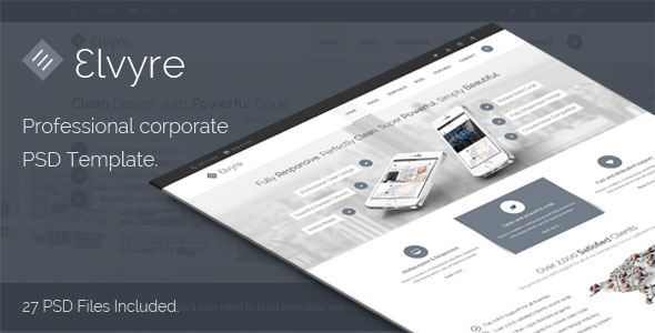 Elvyre Professional Corporate PSD Template - Business Corporate