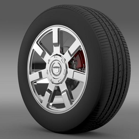 Cadillac Escalade esv 2wd1 wheel - 3DOcean Item for Sale