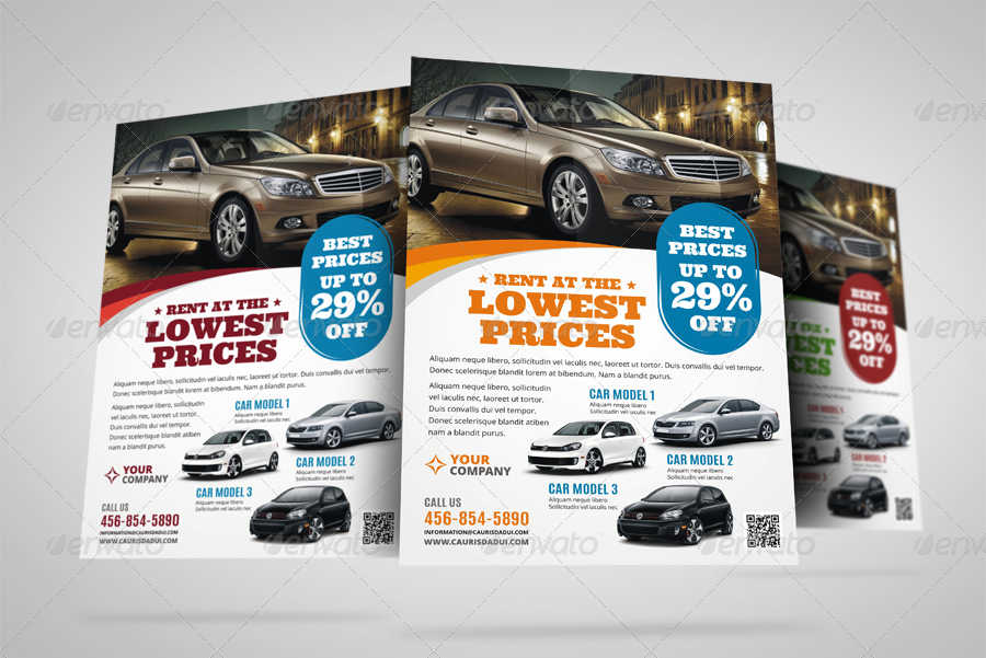 Automotive Car Sale Rental Flyer v7 by JbnComilla – Car for Sale Flyer