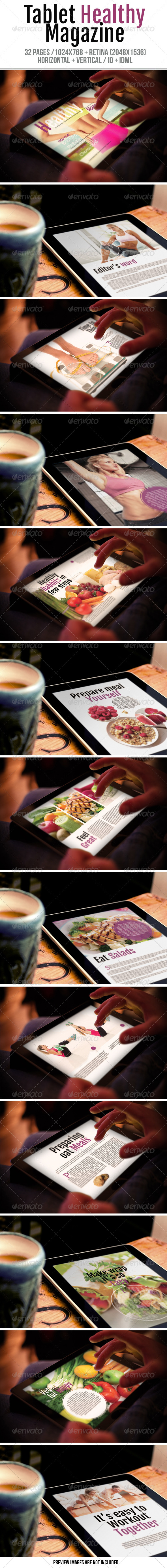 GraphicRiver Tablet Healthy Magazine 7262611