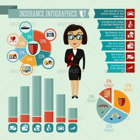 GraphicRiver Insurance Agent Infographics Design 7262835