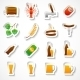 Alcohol Beer Party Stickers Set - GraphicRiver Item for Sale