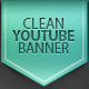 Clean youtube banner - GraphicRiver Item for Sale