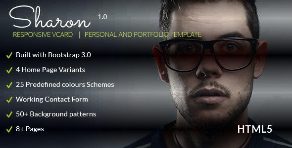 Sharon Vcard -Personal Portfolio Resume Templates - Personal Site Templates