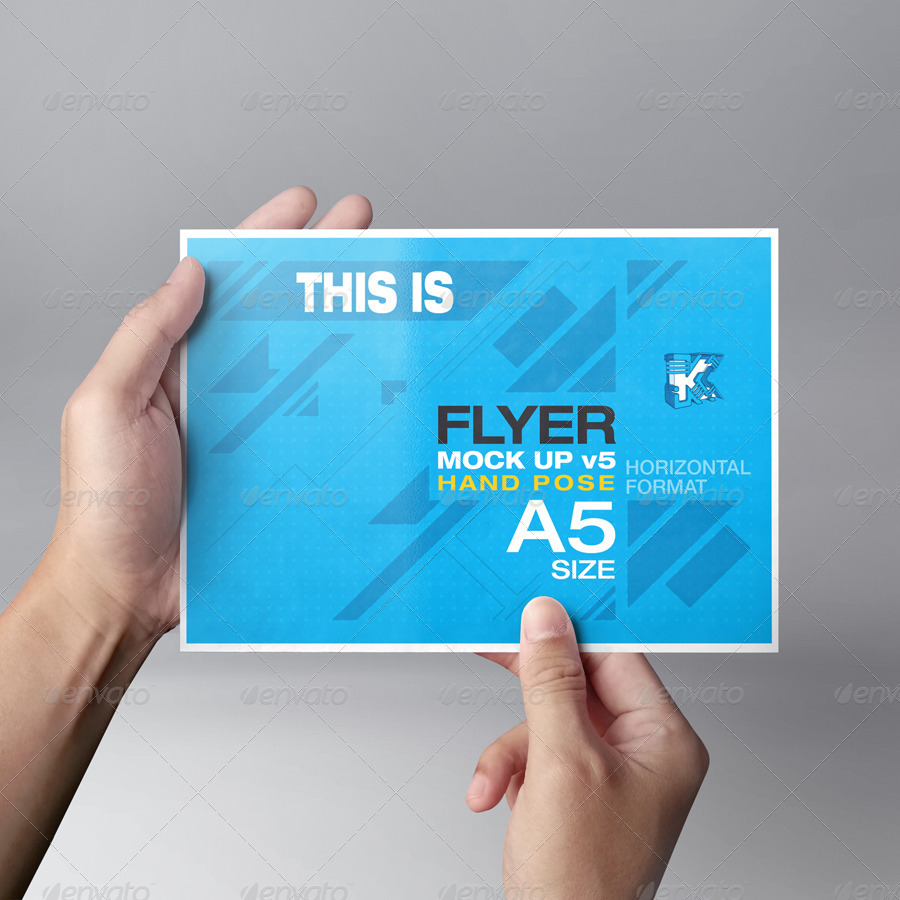 Flyer Mock-up v5 by kenoric | GraphicRiver