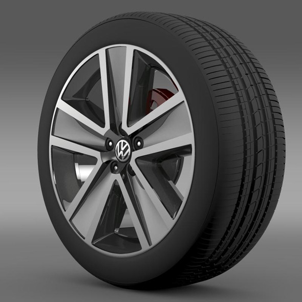 VW CrossPolo 2011 wheel - 3DOcean Item for Sale
