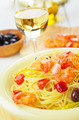 Seafood spaghetti pasta dish with shrimps - PhotoDune Item for Sale