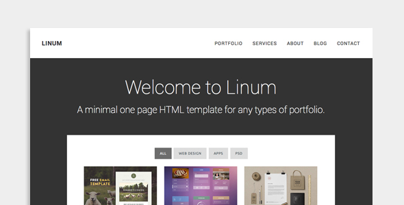 Linum - Creative One Page HTML Template