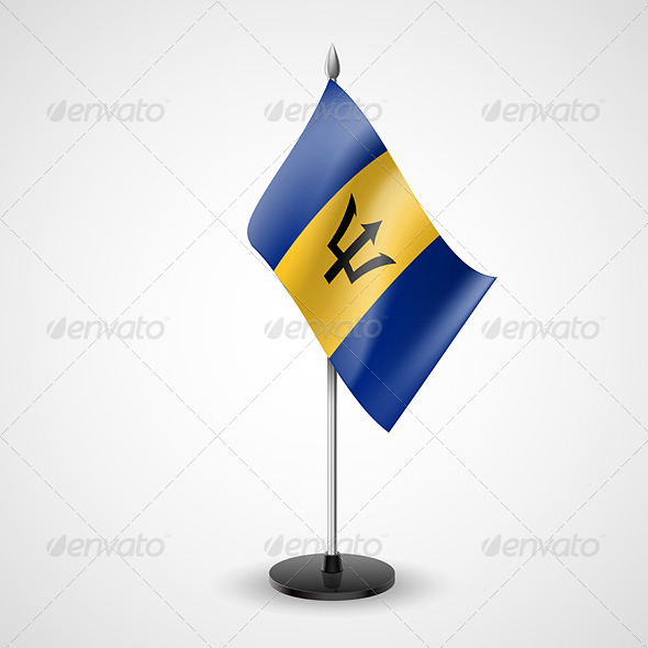 Table Flag of Barbados