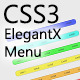 CSS3 ElegantX Menu - CodeCanyon Item for Sale
