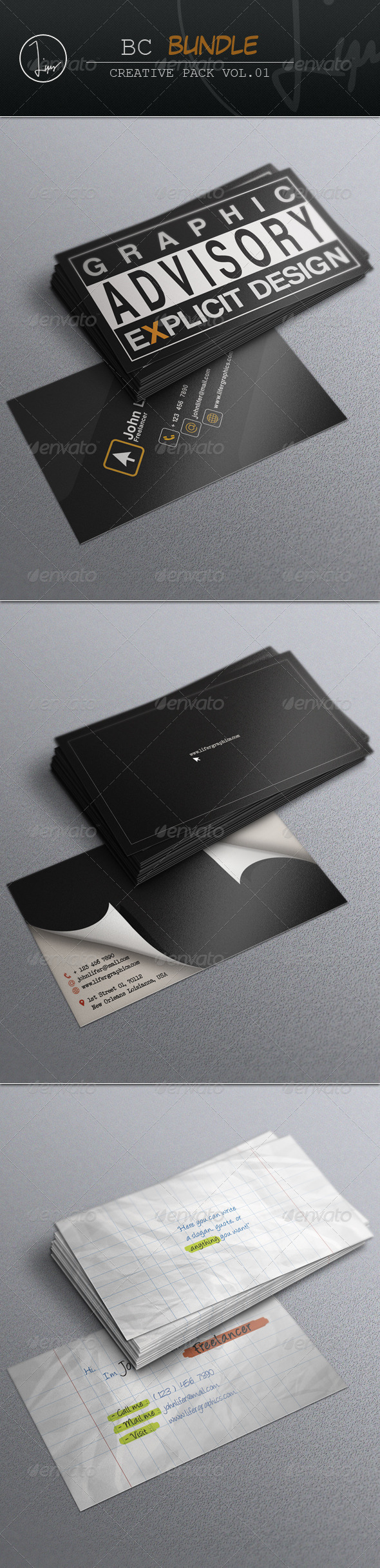 Business Card Bundle Vol.01 - Business Cards Print Templates