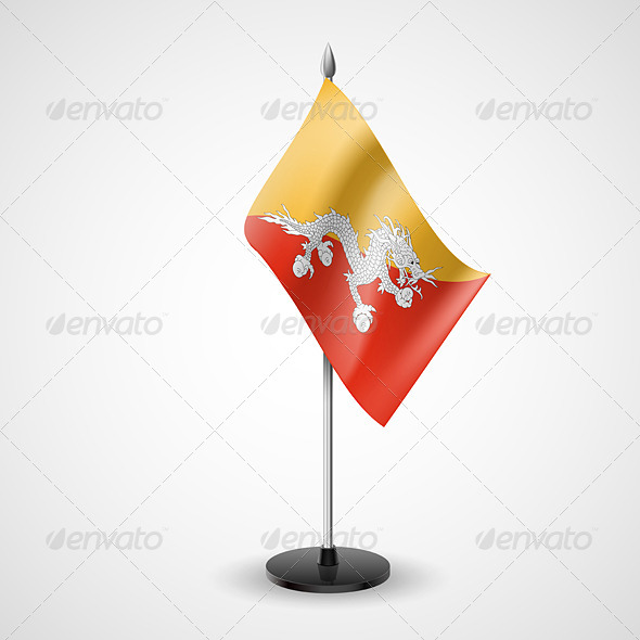 Table Flag of Bhutan