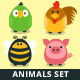 Animals Collection - Farm and Domestic Set - GraphicRiver Item for Sale
