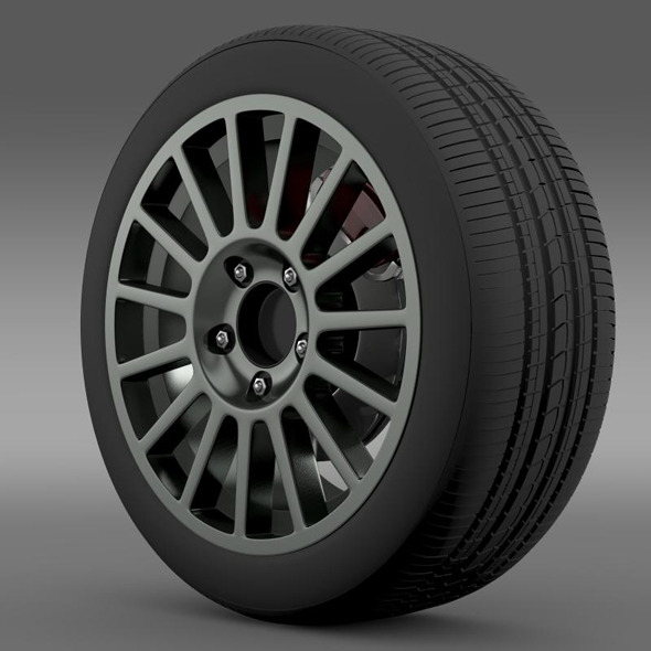 VW Polo R WRC wheel