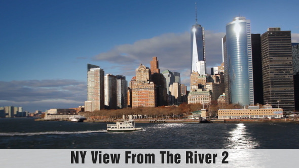 New York View From The River 02