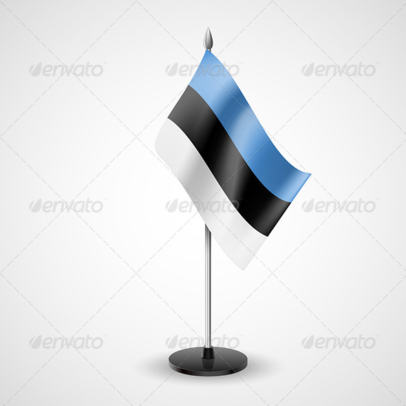 Table Flag of Estonia