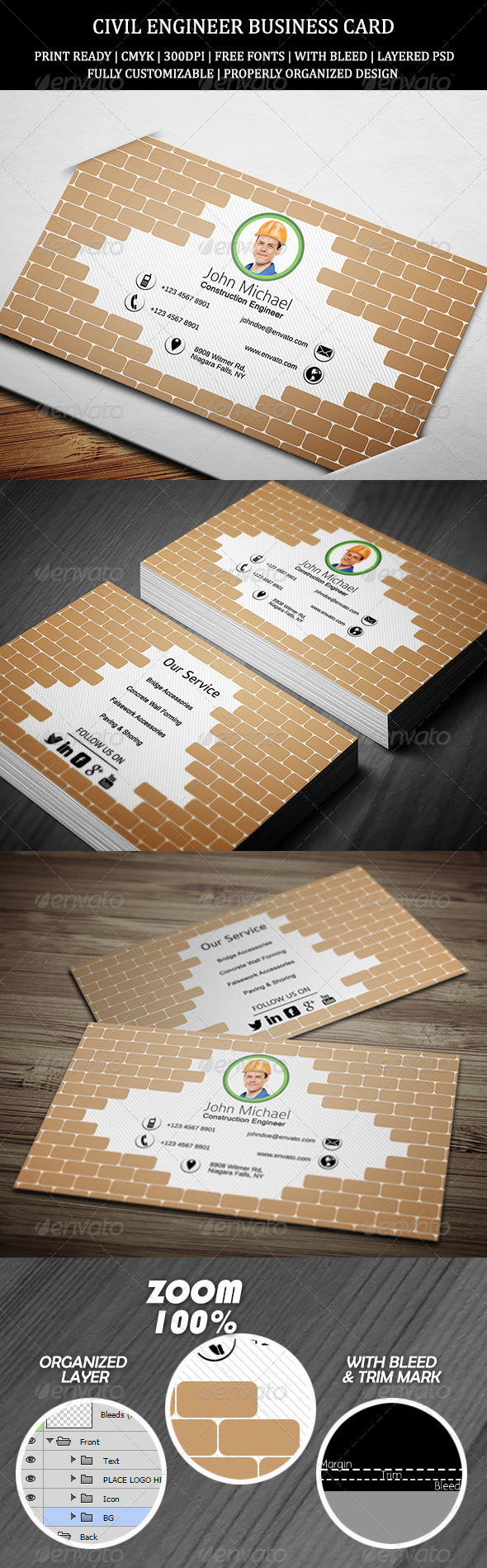Civil Engineer Business Card 1
