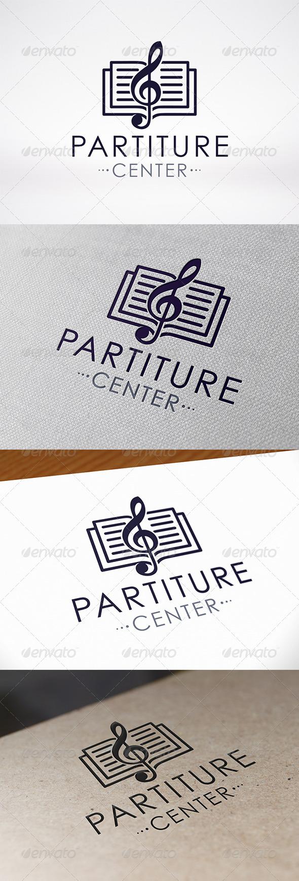 Music Book Logo Template