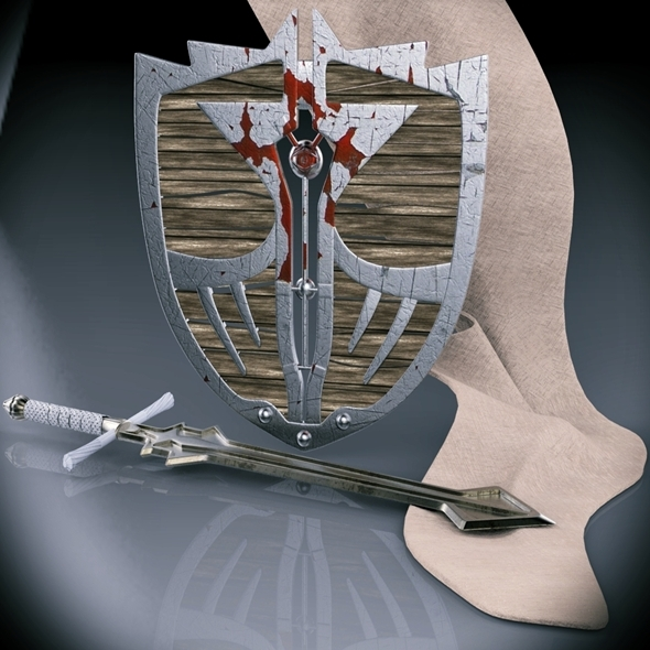 Shield and sword - 3DOcean Item for Sale