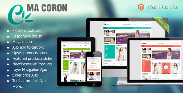 Coron - Fashion Responsive Magento Theme - Fashion Magento