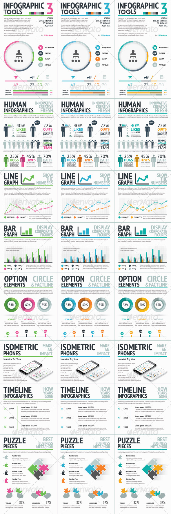 GraphicRiver Infographic Tools Set 3 7255322