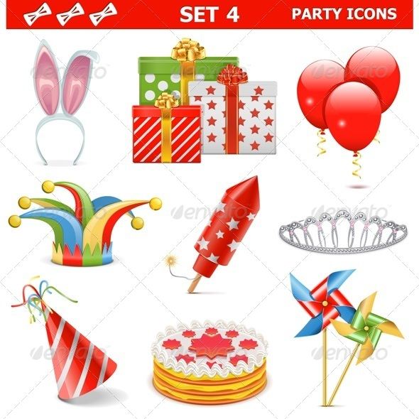 Party Icons Set 4