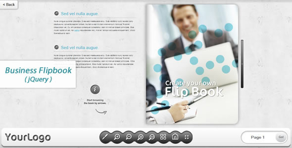 Download Business FlipBook -jQuery nulled download