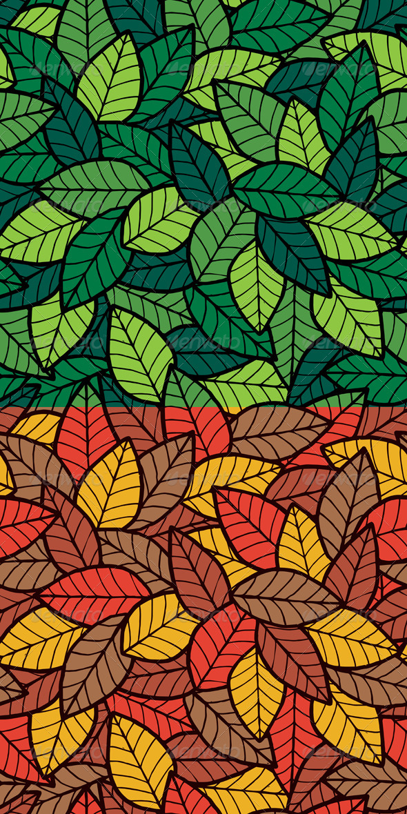 Leafs Seamless Pattern