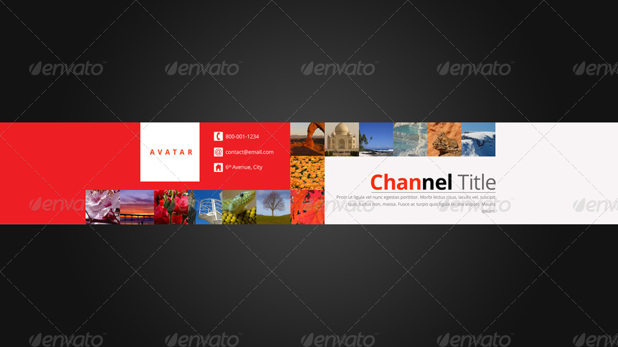 3in1 Youtube Background Templates by pmvch   GraphicRiver