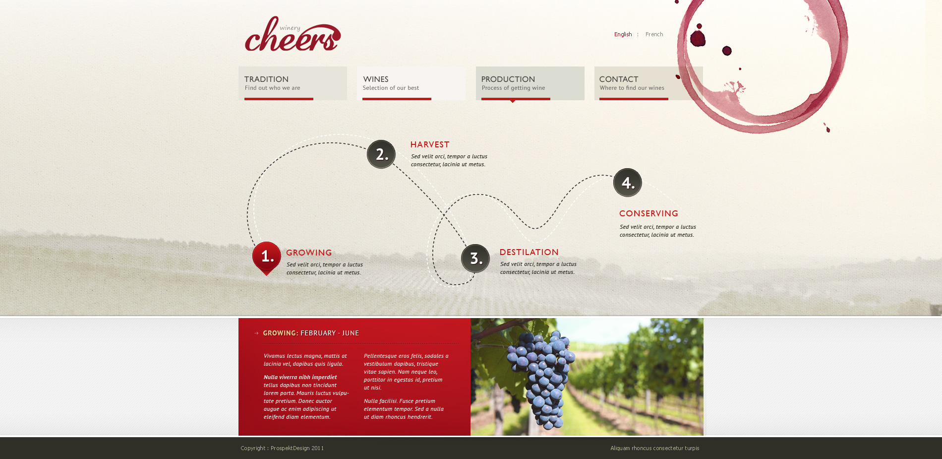 Cheers - premium .psd for winery