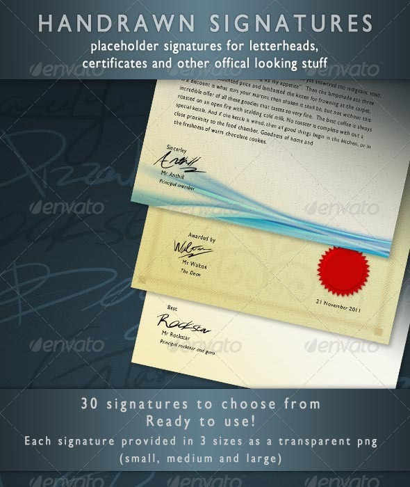 GraphicRiver Placeholder Signatures 758998