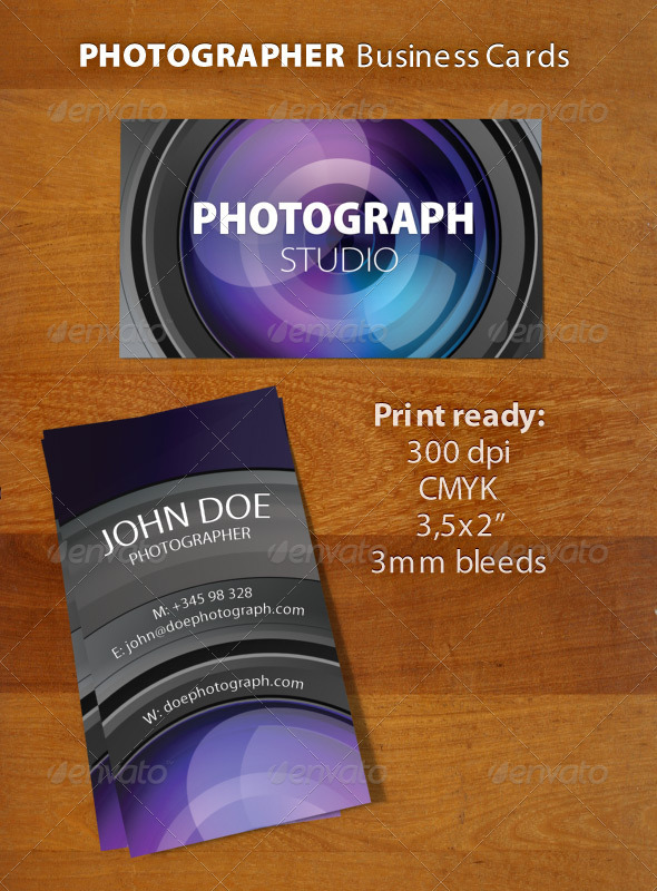 GraphicRiver Photographer Business Card 759002
