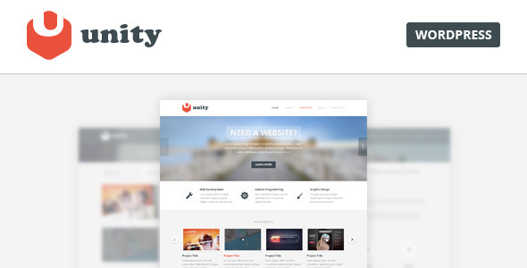 What is Unity? Unity is a multipurpose Wordpress theme designed for personal and business purposes. Please install DEMO data after installation in order to crea