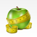 Apple with centimeter - PhotoDune Item for Sale
