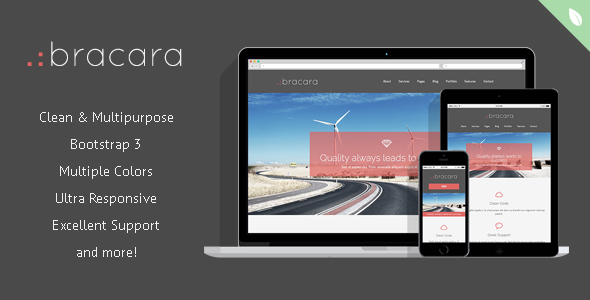 Bracara - Responsive HTML5 Template - Corporate Site Templates
