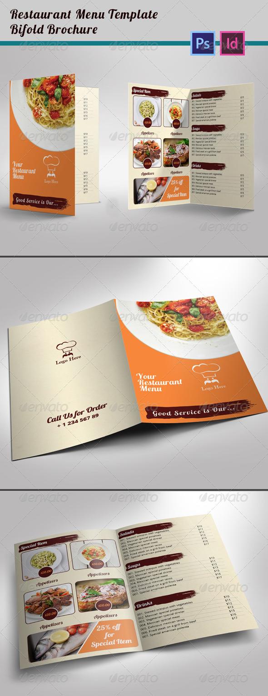 Restaurant Menu Template Bi-fold Brochure - Informational Brochures
