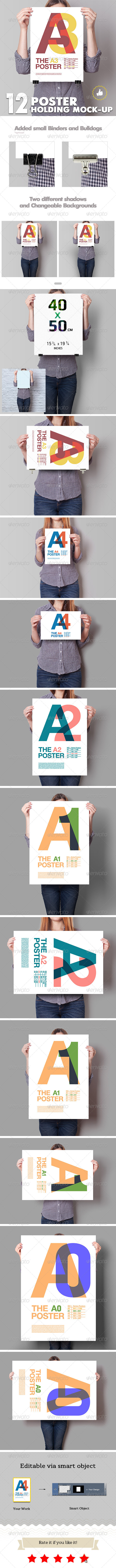 Poster Mockup / 12 Different Images - Posters Print