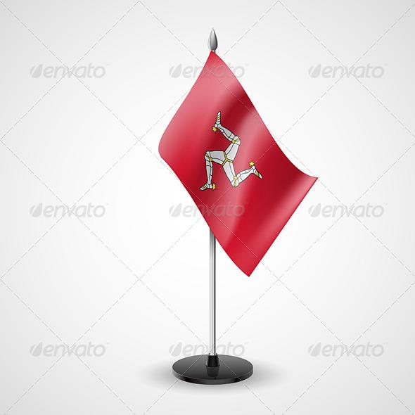 Table Flag of Isle of Man