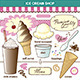 Vector Art Ice Cream Shop Set Toppings Shake - GraphicRiver Item for Sale
