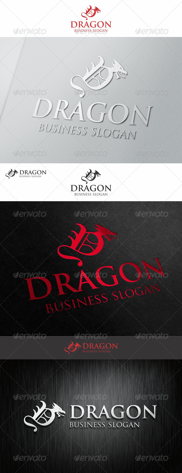 Dragon Logo Letter D - Animals Logo Templates