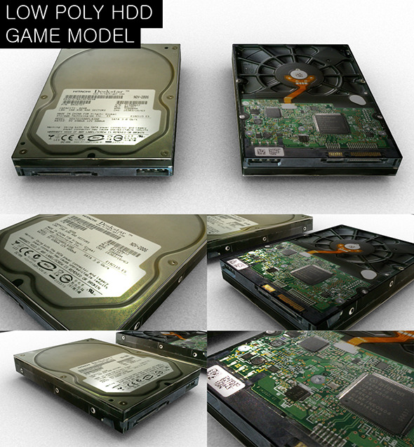 Low Poly HDD Game Model - 3DOcean Item for Sale
