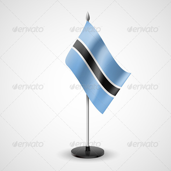 Table Flag of Botswana