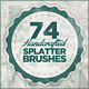 74 Handcrafted Splatter Brushes - GraphicRiver Item for Sale
